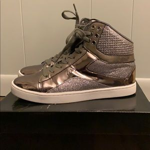 Pastry Gunmetal & Glitter High Top Sneakers Size 8